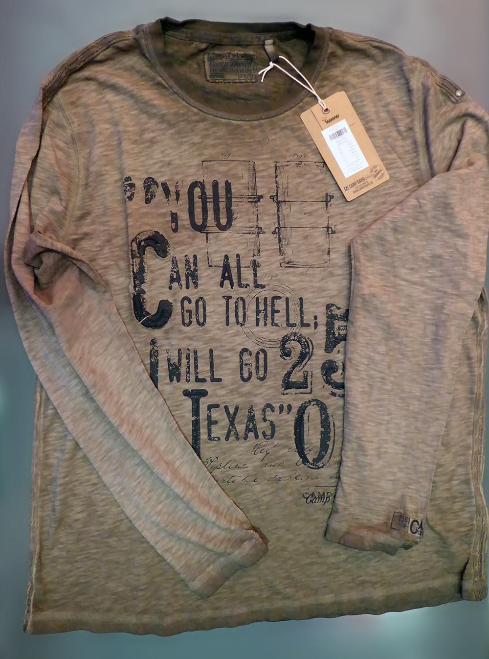 afccfdd6b076 Pánske tričká - pánske tričko dlhý rukáv CAMP DAVID