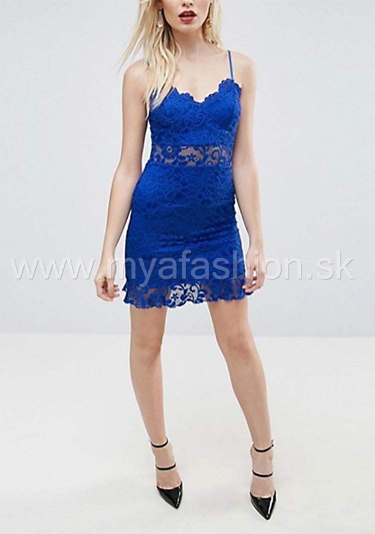 6113c59fc975 dámske modré čipkované šaty