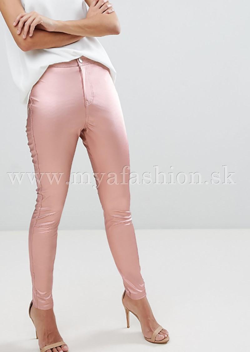 31d21b75f7f6 dámske ružové saténové nohavice