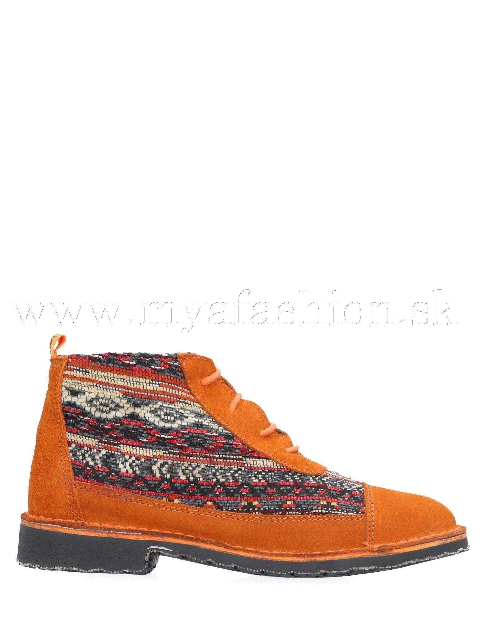 3360bf8477c7 Dámske čižmy - dámske oranžové členkové topánky