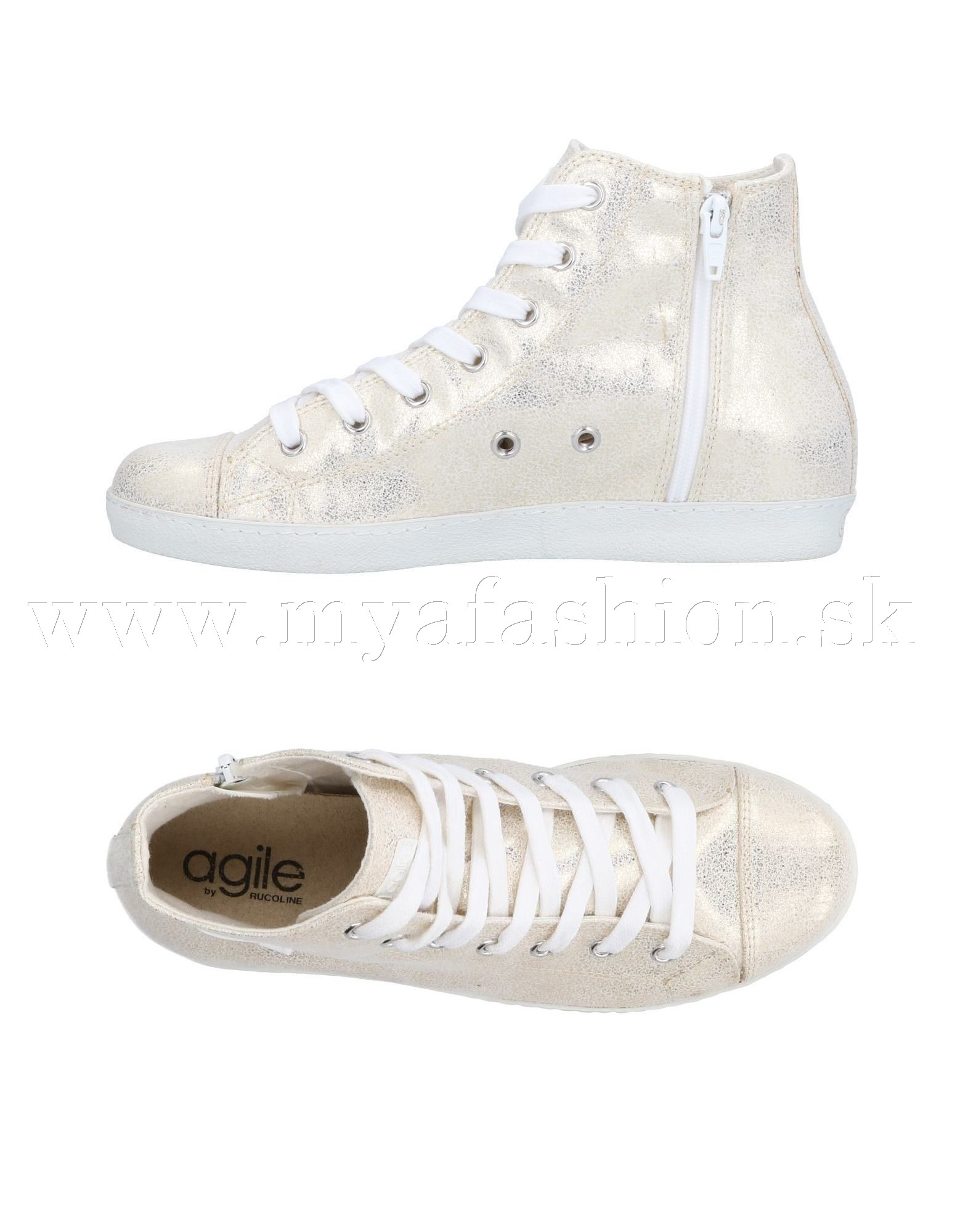 288f88c71c Dámske topánky - dámske zlaté členkové tenisky