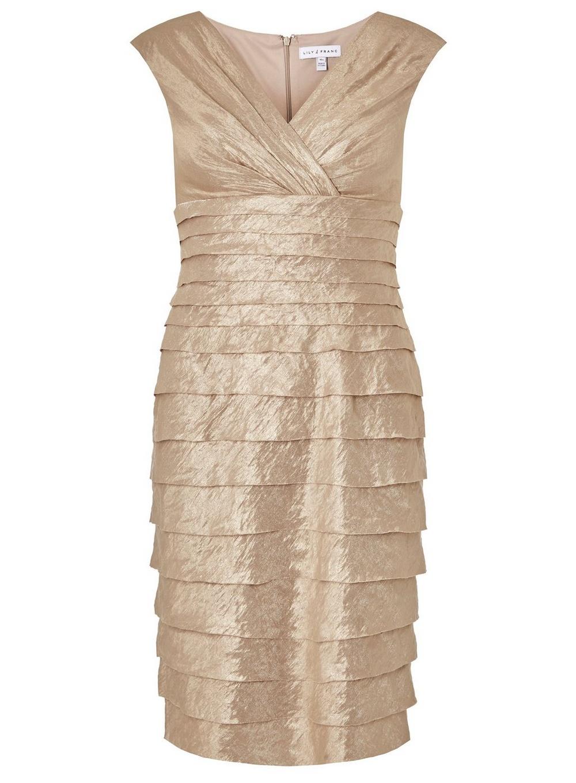 ccea0626707b dámske zlaté spoločenské tubové šaty