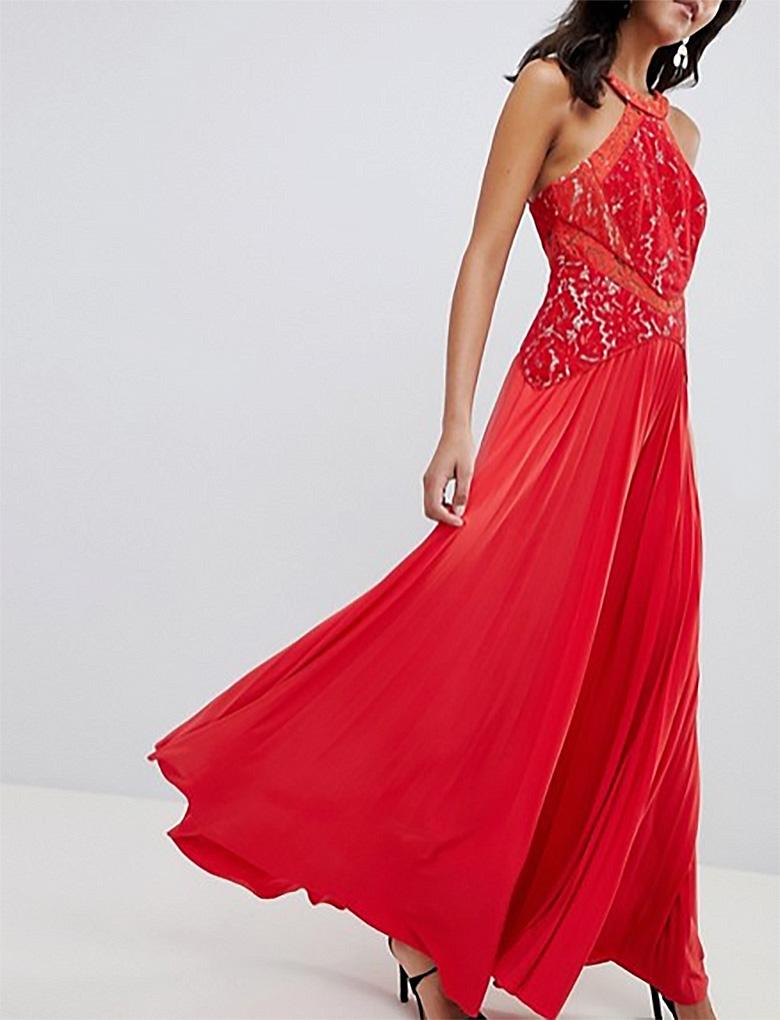 dd3c3c94a51b dámske červené dlhé spoločenské šaty