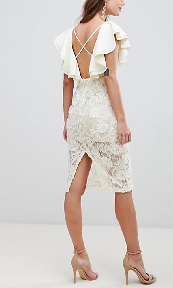 53f01fe95a5b dámske čipkované šaty s volánmi