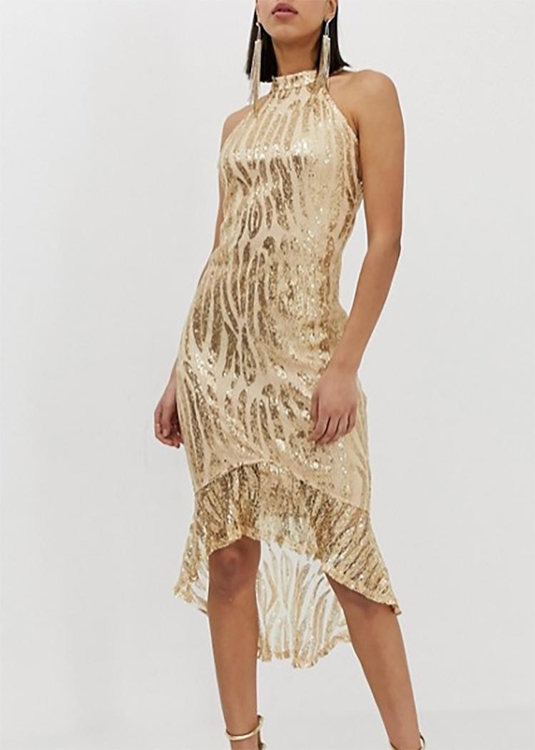 3f3cee5efeef dámske zlaté spoločenské šaty
