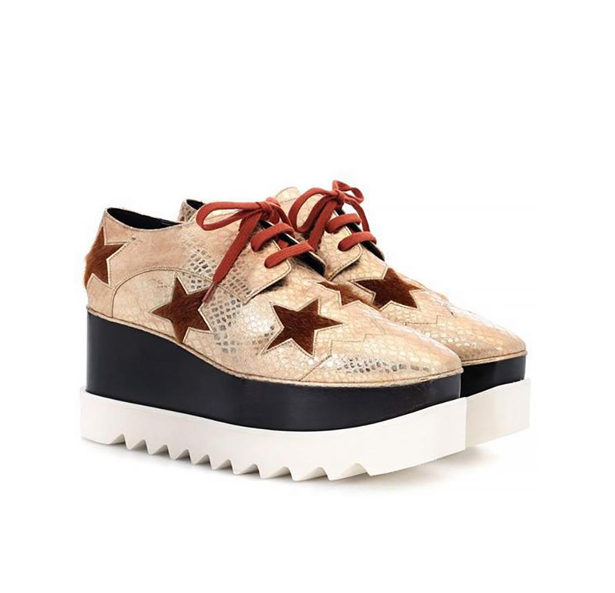 89655f8c0ad7 Dámske topánky - dámske topánky na platforme s hviezdičkami a kožušino