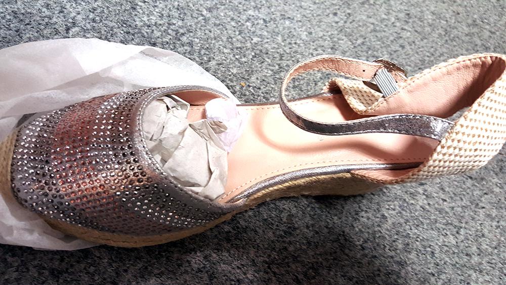 4a2069fa94 Dámske sandále - dámske strieborné letné sandále klinové