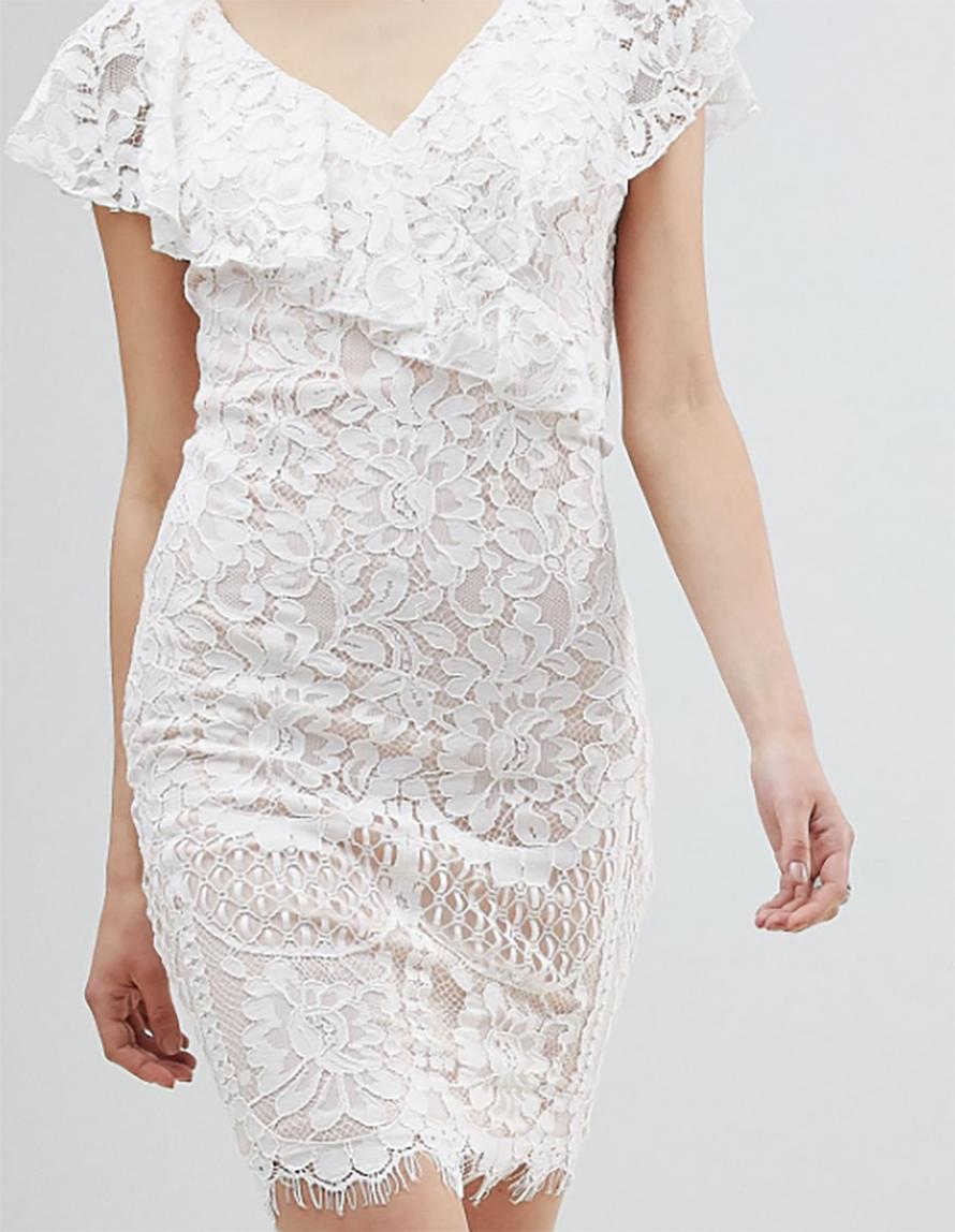 0a37e3499272 dámske biele čipkované šaty