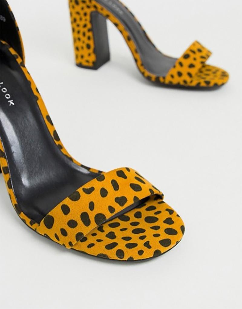 8cf809230b21 Dámske čižmy - dámske leopardie žlté sandále