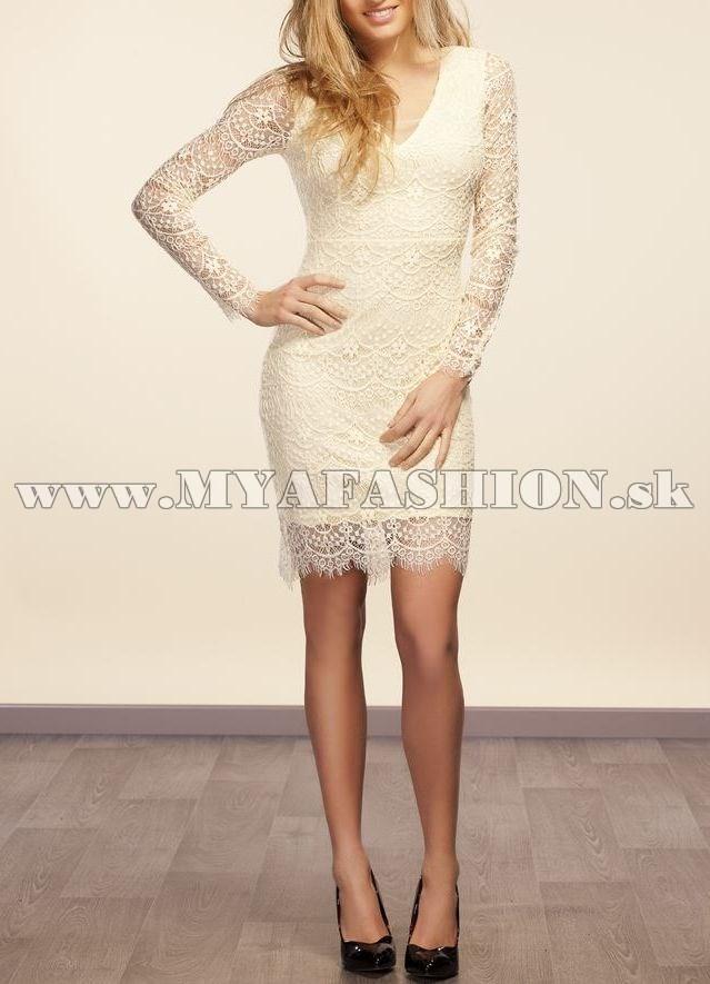 33ccf8ed602 dámske čipkované šaty s dlhým rukávom