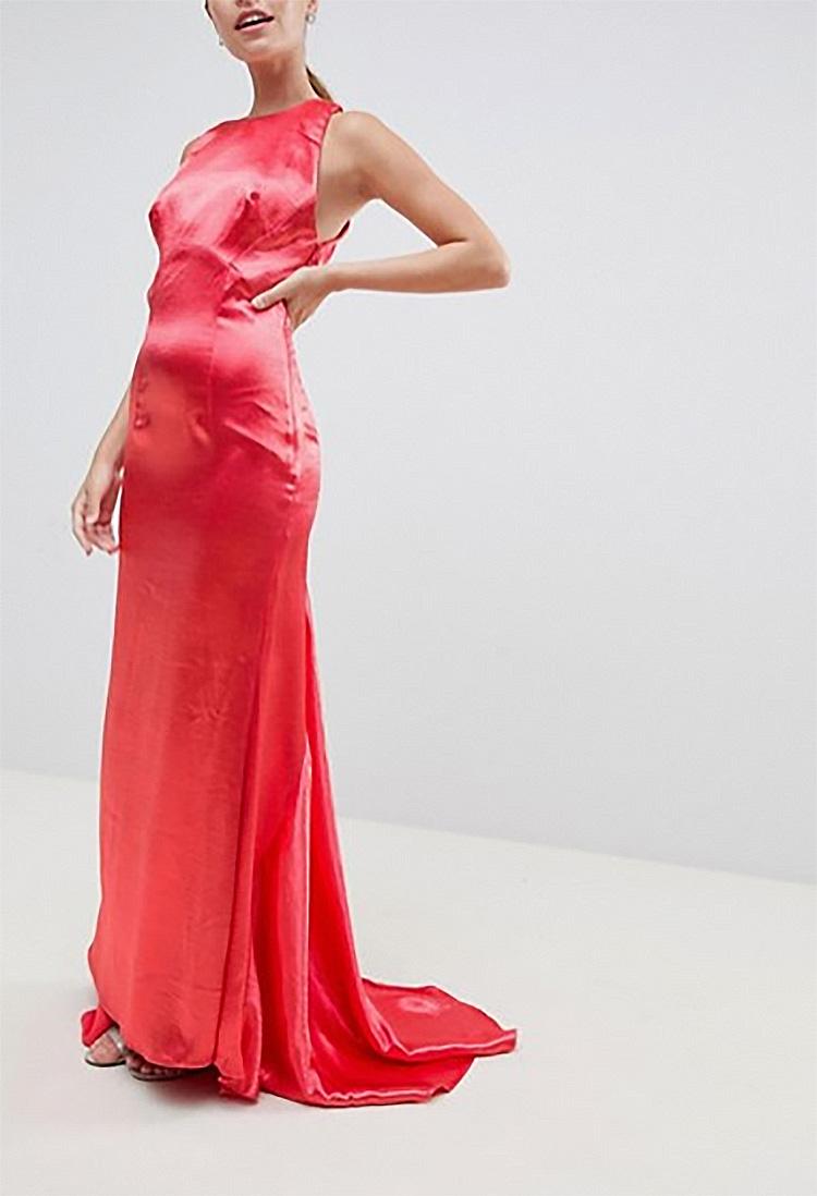 129e5fe88c1a dámske koralové dlhé spoločenské šaty