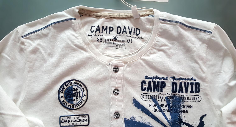 efc737180ba5 Pánske tričká - pánske tričko s dlhým rukávom CAMP DAVID