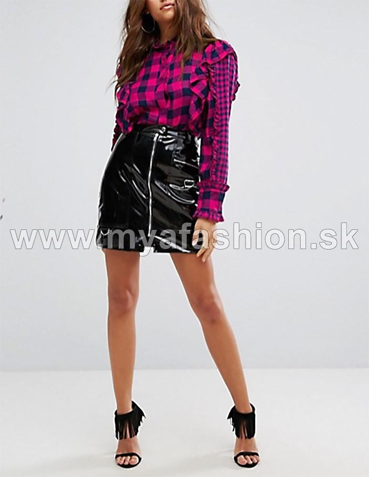 03d21e11dc dámska károvaná fuchsiová košela