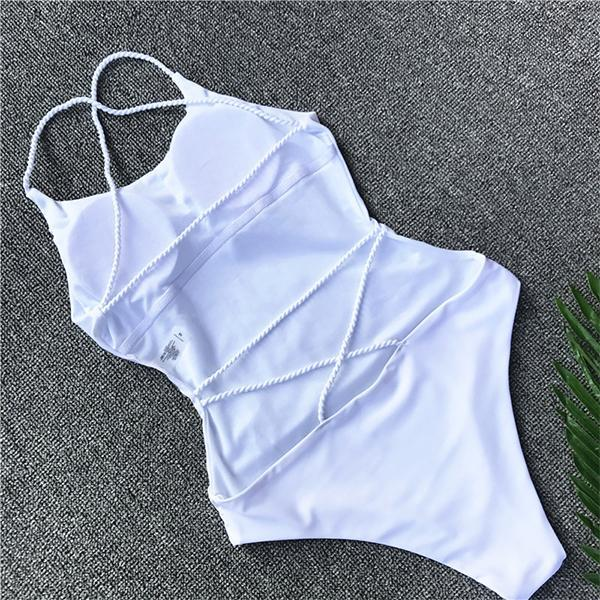 94d57adf44ba Dámske plavky - dámske celé sexi plavky so šnúrkami