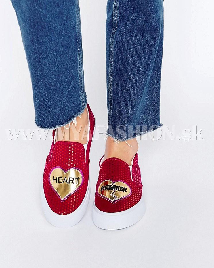 Dámske topánky - dámske dizajnové pohodlné topánky so srdiečkom 1ab31784d33