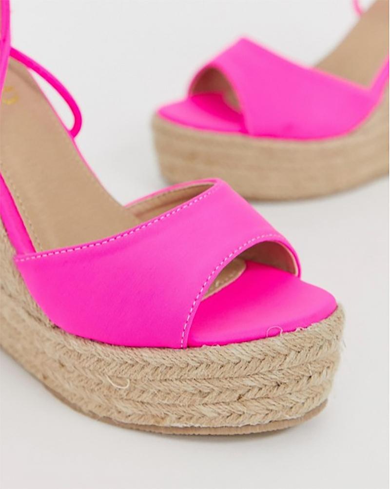 dbe10887b122 Dámske čižmy - dámske ružové sandále na klinovej podrážke