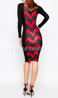 dámske strečové úzke šaty s dlhým rukávom deef48fb41e