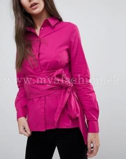 502daee064 dámska ružová blúzka so šnurovaním v páse