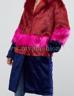 b2088865344b dámsky farebný dizajnový kožuch