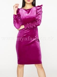 dámske ružové šaty s dlhým rukávom 87bfffcb75f