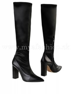6e7ee6a871f0 dámske čierne vysoké čižmy