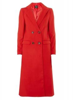 Novinka. dámsky červený zimný kabát c1159801805