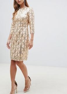 6d65e03f524b dámske zlatobéžové spoločenské šaty