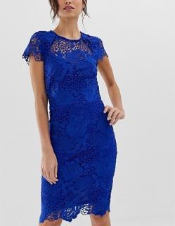 2dae2177b76a dámske modré čipkované tubové šaty