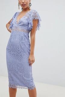 3b5e9464ef4e dámske fialové čipkované šaty