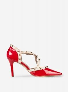 9f786e1730c3 dámske lakované červené lodičky